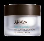 Выравнивающий тон антивозрастной омолаживающий ночной крем AHAVA